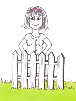 girl with fence